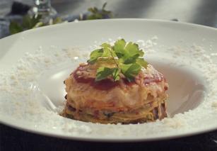 Vegetáriánus lasagne