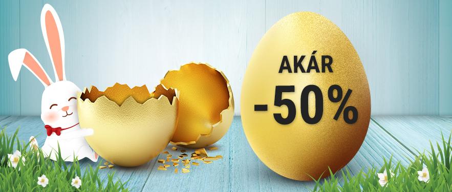 Húsvéti Akciók: akár -50%