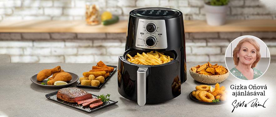 Air Fryer Pro Black olaj nélküli fritőz